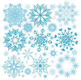 Collection Christmas snowflakes Royalty Free Stock Images