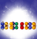 Collection of christmas spheres Royalty Free Stock Images