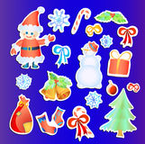 Collection of Christmas stickers Stock Images