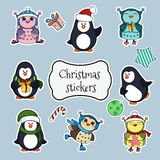 Collection of christmas stickers. Royalty Free Stock Photography