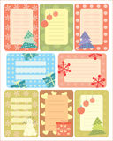 Collection of christmas tags for scrapbooking Stock Photo