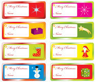 Collection Christmas tags Stock Photos