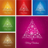 Collection Christmas tree made Stock Image