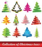 Collection of Christmas trees. Vector illustration for your artwork Stock Photography