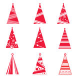 Collection of Christmas Trees Stock Photo