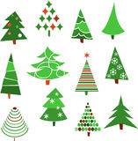Collection of Christmas trees. Vector Stock Image