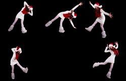 Collection of christmas woman / girl acrobats royalty free stock image