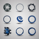 Collection Of Circle Designs Stock Image