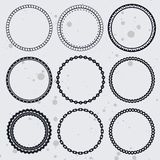 Collection with circle frames Stock Image