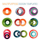 Collection of circle shaped multipurpose templates Stock Images