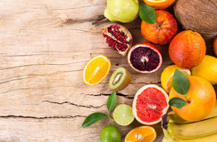Collection citrus fruit Stock Image