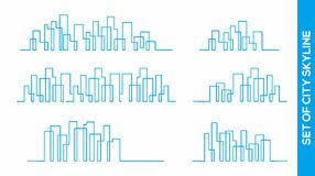 Collection of city Skyline vector design concept. Skycraper or city Skyline vector design concept stock illustration