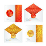 Collection of classic wedding white envelope and Royalty Free Stock Image