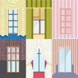 Collection classique colorée de Windows illustration stock
