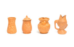 Collection of clay vases for gardening Stock Image