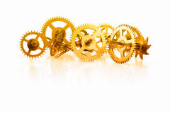 A collection of clock gear Royalty Free Stock Image