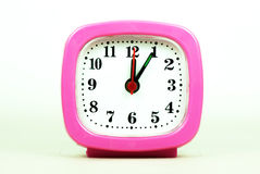 Collection of clock From 12:00 to 1:00 AM and PM isolated in whi Stock Image