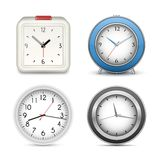 Collection of clocks and alarms Stock Photos