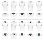 Collection of clothes collars Royalty Free Stock Photos