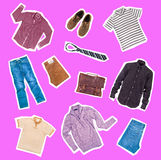 Collection of clothes Royalty Free Stock Image