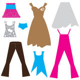 Collection of clothes  for women Stock Image