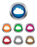 Cloud buttons. Collection of cloud buttons in various colors Royalty Free Stock Image