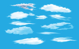 Collection of cloud Stock Photo