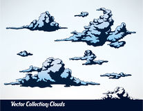 Collection of clouds Stock Photo