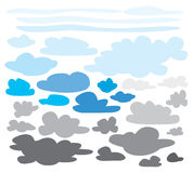 Collection of clouds. Graphics stock illustration