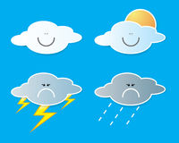 Collection of clouds, Weather icon for design. Stock Photography