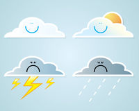 Collection of clouds, Weather icon for design. Stock Photos