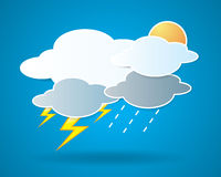 Collection of clouds, Weather icon for design. Stock Images