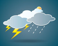 Collection of clouds, Weather icon for design. Royalty Free Stock Images