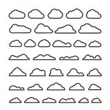 Collection clous de vecteur d'abrégé sur différent silhouette Image stock