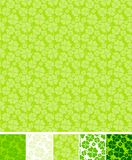 Collection of clover patterns, for Saint Patrick Royalty Free Stock Photos