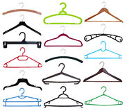 Collection of coat hangers Stock Photography