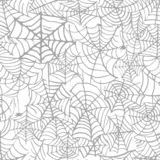 Collection of Cobweb isolated transparent pattern. Spiderweb for Halloween design. Spider web elements spooky and scary royalty free illustration