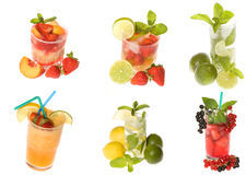Collection cocktails Stock Photo