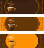 Collection of coffee banners set Royalty Free Stock Photography