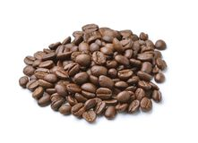 Collection of Coffee beans isolated on white background. The Collection of Coffee beans isolated on white background Royalty Free Stock Photo