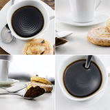 Collection of coffee and cakes Stock Photo