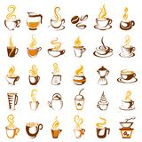 Collection of coffee icon Stock Photography