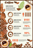 Collection of coffee infographics elements, vector Royalty Free Stock Images