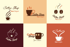 Collection of coffee shop logo illustration Royalty Free Stock Photography