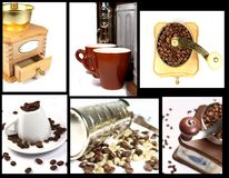 Collection of coffees still lifes Stock Images