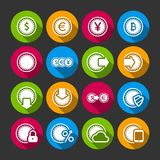 Collection of coins for finance or money app Royalty Free Stock Photography