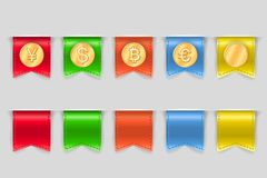 Collection of coins for finance Royalty Free Stock Images
