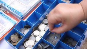 Collection of coins Royalty Free Stock Photo