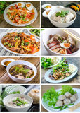 Collection of Collage from Photographs of thai food. Royalty Free Stock Photography