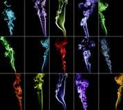 Collection colorée 2 de fumée Image libre de droits